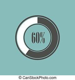 圖表, 餅, 插圖, 元素, 矢量,  infographics, 輪
