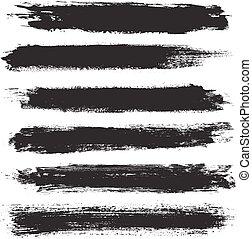Grunge banner set. Black grunge banners. Vector illustration
