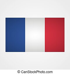 France flag on a gray background. Vector illustration