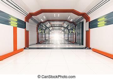 Futuristic corridor - Abstract light futuristic corridor...