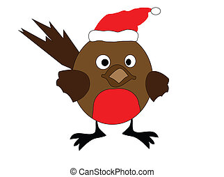robin redbreast - an illustration of a christmas robin red...