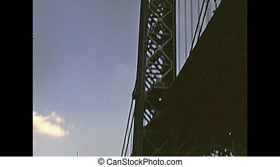 Old Manhattan Bridge - Bottom view of Manhattan Bridge from...