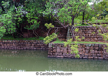 Sigiriya ruin complex - Artificial pond belonging to...
