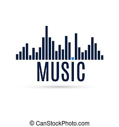 Abstract Equalizer Icon Music Sound Wave for Design Template