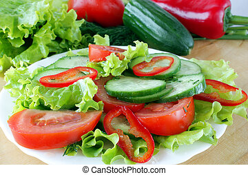 vegetable salad - fresh vegetable salad