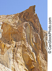 the sand cliffs at Alum Bay, Isle of Wight