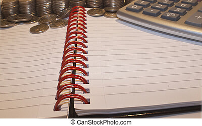 counting and calculating finances - counting coins and...