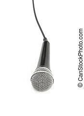 Microphone high angle close up isolated on white