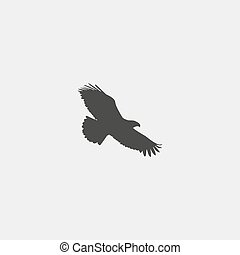 Eagle icon in a flat design in black color. Vector...