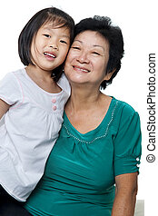 Me and grandmother - Photo of Asian grandmother and...