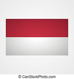 Indonesia flag on a gray background. Vector illustration
