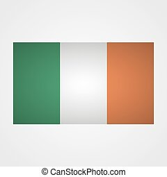 Ireland flag on a gray background. Vector illustration