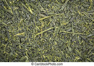 Kabusecha green tea background - background texture of loose...