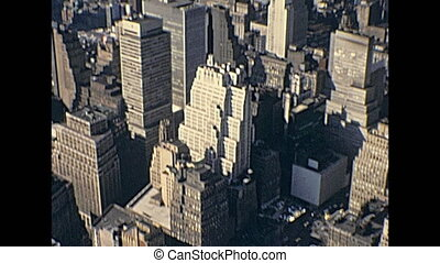 Empire State Building view - Vintage aerial view panorama...