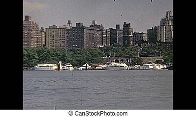 East side skyline - Vintage Manhattan east side skyline on...