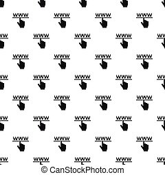 Hand cursor and website pattern, simple style - Hand cursor...