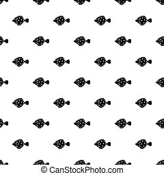 Flounder fish pattern, simple style - Flounder fish pattern....
