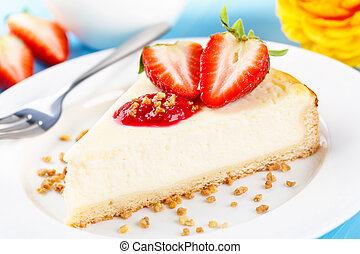 cheese shortcake - fresh homemade cheese shortcake with...