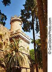 Castello Palace of Rhodes with its turrets - Beautiful view...