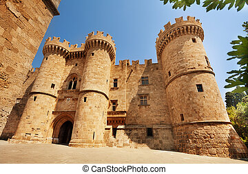 The Grand Master Palace of Rhodes, Greece - A symbol of...