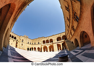 The Palace of Grand Master courtyard, Rhodes