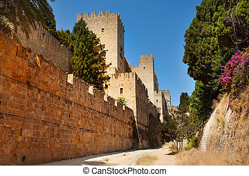 Palace of Grand Master with its defensive wall - The Palace...