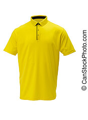 Golf yellow with black trim tee shirt for man or woman