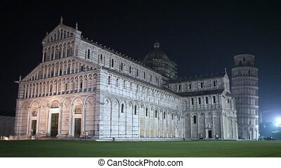 Pisa Cathedral And Leaning Tower By Night - Cathedral of...