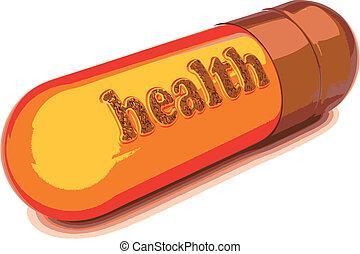 vector brown capsule health - brown capsule health made in...