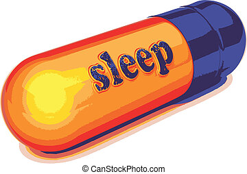 vector blue capsule sleep - blue capsule sleep made in...