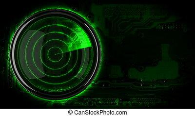 loopback green radar display