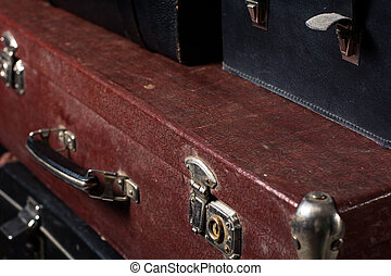 cerradura, primer plano, vendimia, bolsa, hierro, maleta,...
