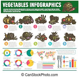 Vegetables healthy food vector infographics - Vegetables...