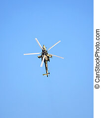 Combat helicopter Mi 28, top view - Top view of the russian...