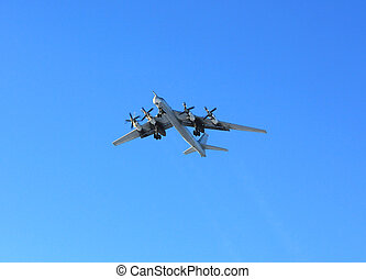 "Russian bomber Tu-95 ""Bear"" - Russian long-range strategic..."