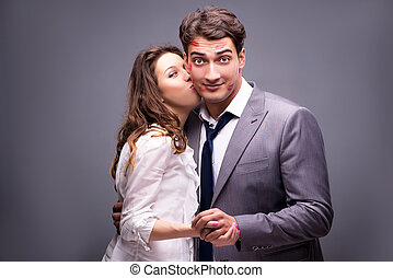Young couple in romantic concept