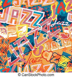 Jazz seamless tile - Vector seamless tile of the word Jazz...