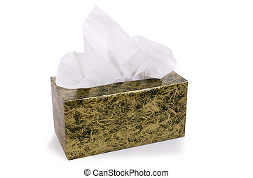 Box of tissues - Box of kleenex style tissues isolated on...