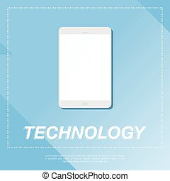 Tablet PC Flat vector illustration