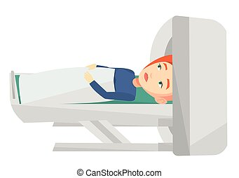 Magnetic resonance imaging vector illustration. - Young...