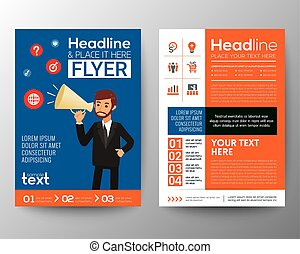 business brochure flyer template layout with businessman...