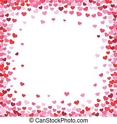 Lovely heart frame with confetti hearts