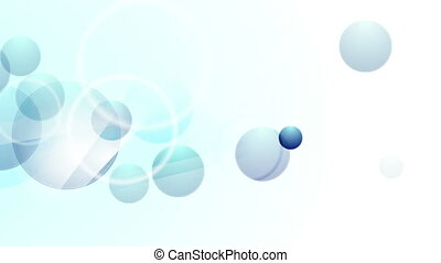 Bright blue abstract circles video animation - Bright blue...
