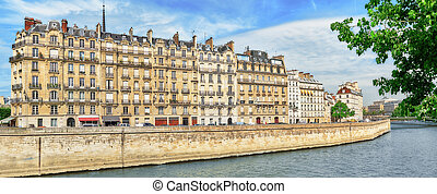 View of the River Seine and most beautiful cities in the...