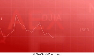 Market indexes - red - Abstract animated background - the...