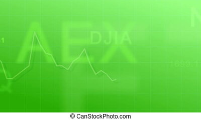 Market indexes - green - Abstract animated background - the...