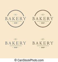Bakery Logo Vintage Design Vector Template Icon Design