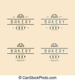 Bakery Logo Vintage Design Vector Illustration Icon Template