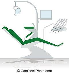 Dentist chair - Medical equipment. Dentist chair. The...