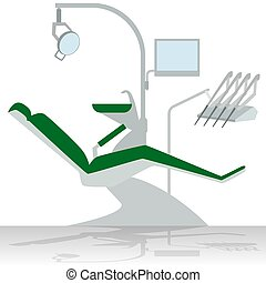 Dentist chair - Medical equipment. Dentist chair. The...